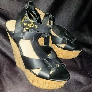 Just Fab Black strappy sandals